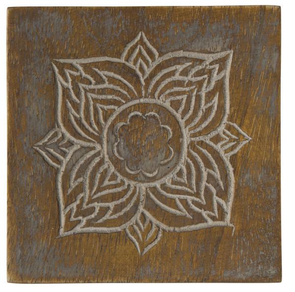 Holzuntersatz Muster handgefertigt