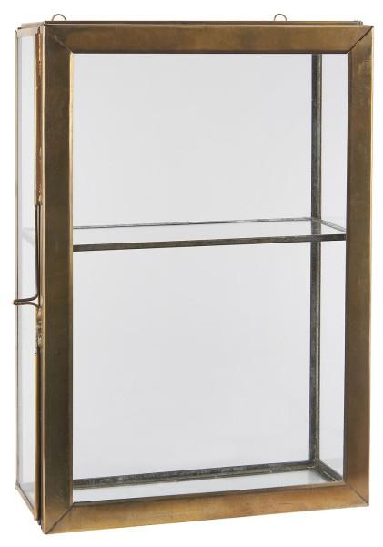 Wandschrank mit 4 Glasseiten und 1 Regal
