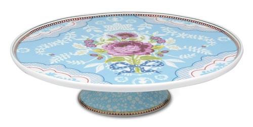 Kuchenplatte Blau mit Fuß