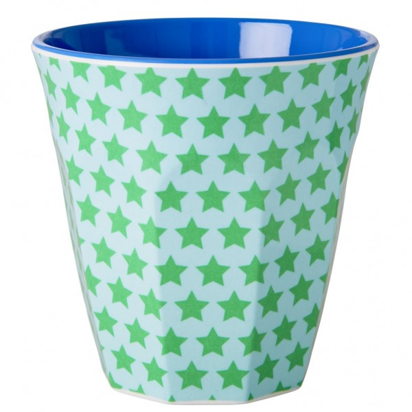 Melamine Cup Two Tone with Star Print von Rice