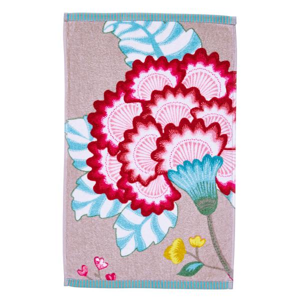 Gästehandtuch Floral fantasy Khaki