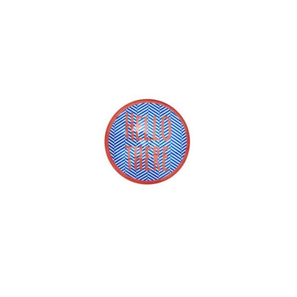 Glasmagnet mit Schrift Print blau von Rice