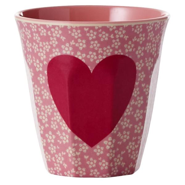 Melamin Becher Zweifarbig Heart Print