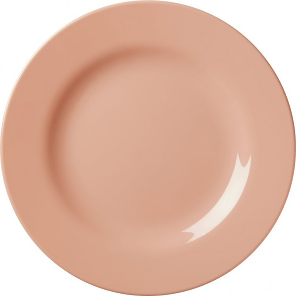 Melamine Round Side Plate Pastel Coral