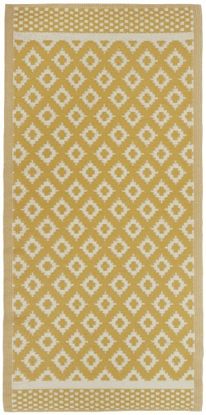 Teppich gemustert Recyclingplastik Gelb