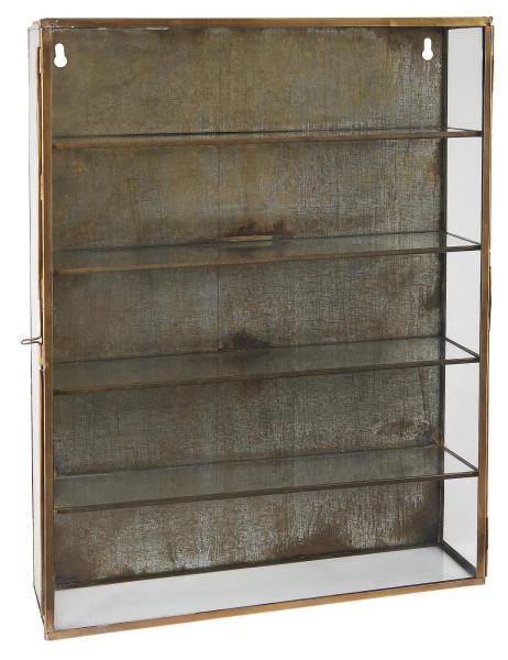 Wandschrank mit 3 Glasseiten und 4 Regalen von IB Laursen