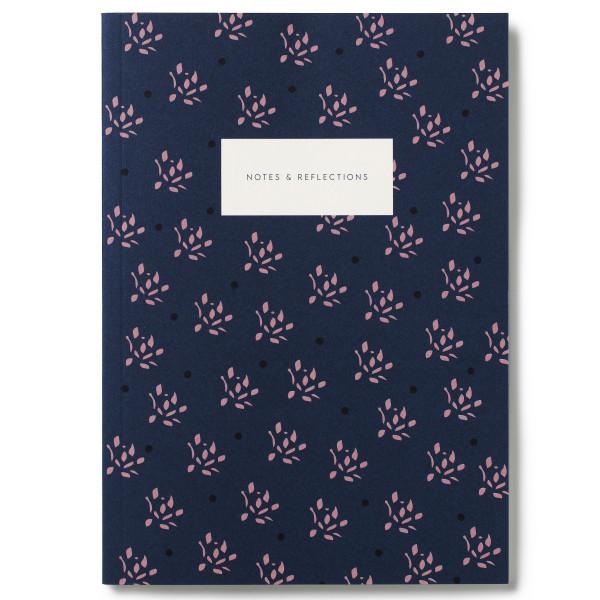 Notizbuch KARTOTEK Floral Navy