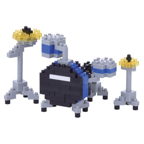 Mini Bausteine Nanoblock Drum Set Blue von Nanoblock