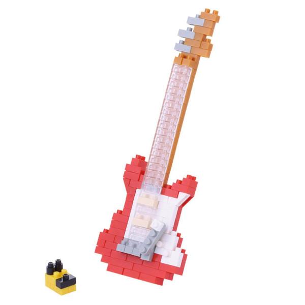 Mini Bausteine Nanoblock E-Gitarre Rot von Nanoblock