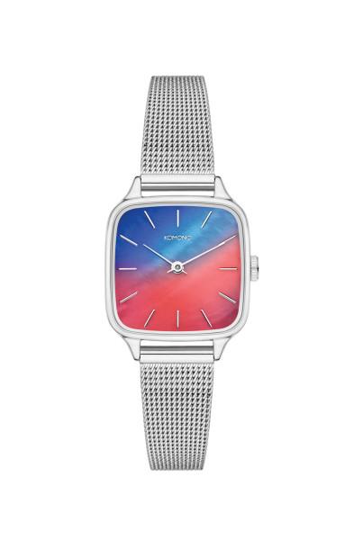 Armbanduhr Kate Royale Halo Silber von Komono