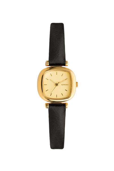Komono Armbanduhr Moneypenny Gold Schwarz