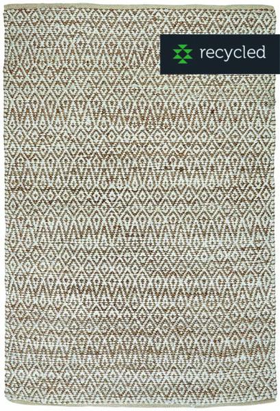 Teppich COTTAGE Natur/Weiß aus recycelter Baumwolle und Jute von LIV Interior