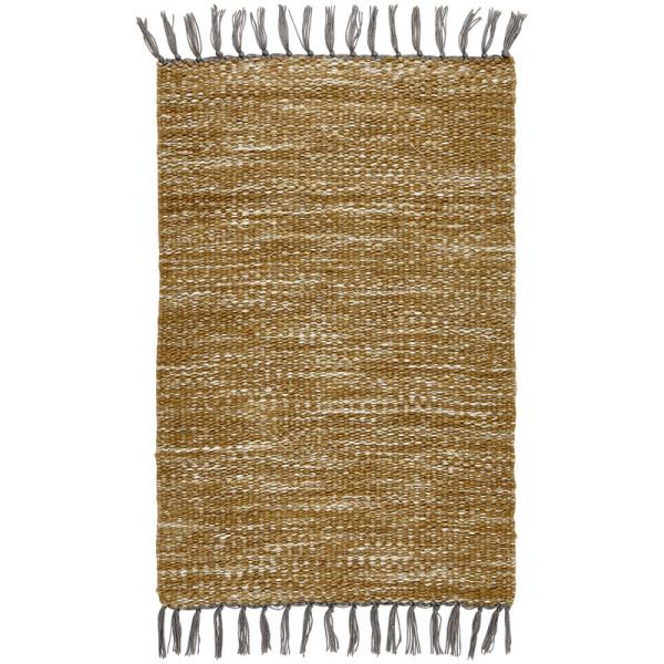 Teppich NORTH Senf/Natur aus recycelten PET-Flaschen von LIV Interior