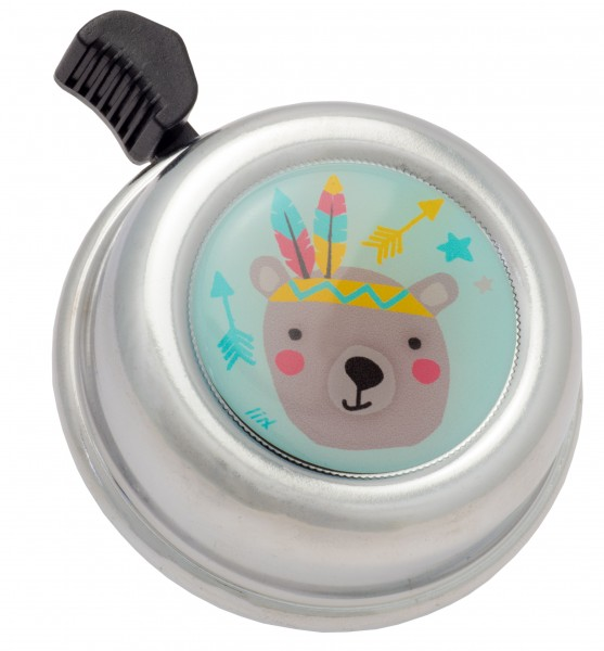 Fahrradklingel Colour Bell Playful Bear Chrome