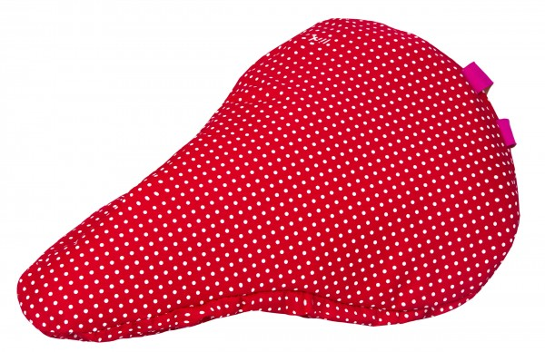 Kinder Sattelbezug Polka Dots Rot