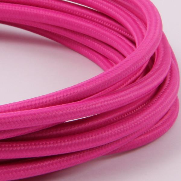 Textilkabel Hot Pink