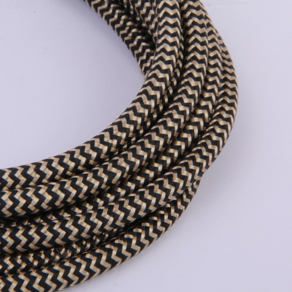 Textilkabel Gold Snake