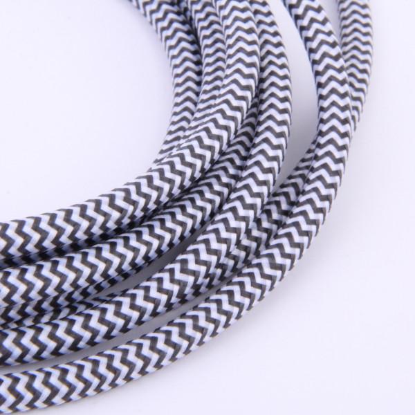 Textilkabel White Snake
