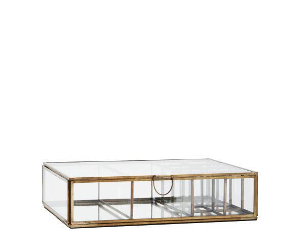 Glasbox mit Unterteilung und Spiegel von Madam Stoltz