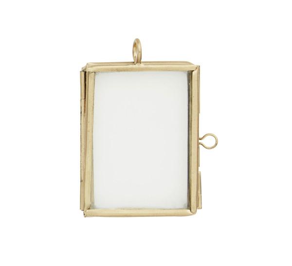 Mini Bilderrahmen Gold, Messing von Madam Stoltz