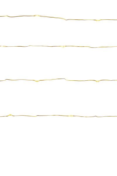Lichterkette Draht, Gold