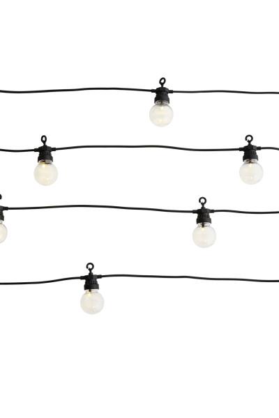Lichterkette, Outdoor, Schwarz, Klar