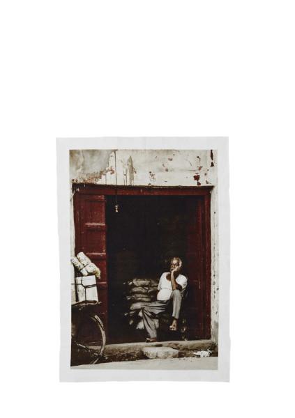 Print auf Leinwand, Natur, Rot, Schwarz, Weiß von Madam Stoltz