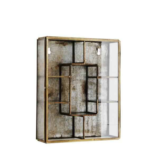 Wandbox mit Regalen Antik Messing von Madam Stoltz