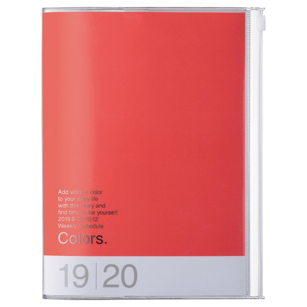 A5 Kalender 2020 COLORS, Rot Pink von MARK'S TOKYO EDGE
