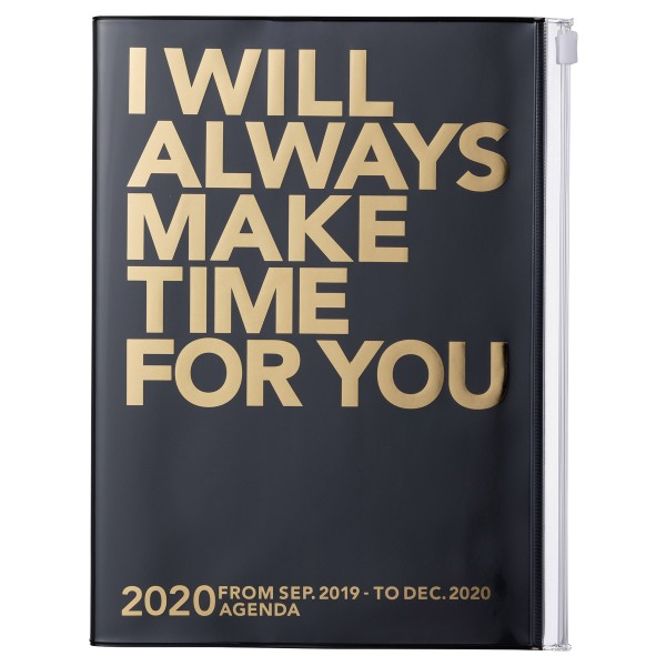 A5 Kalender 2020 MAKE TIME, Schwarz von MARK'S TOKYO EDGE