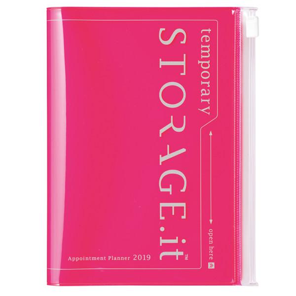 A6 Kalender 2019 STORAGE IT, Neon Pink