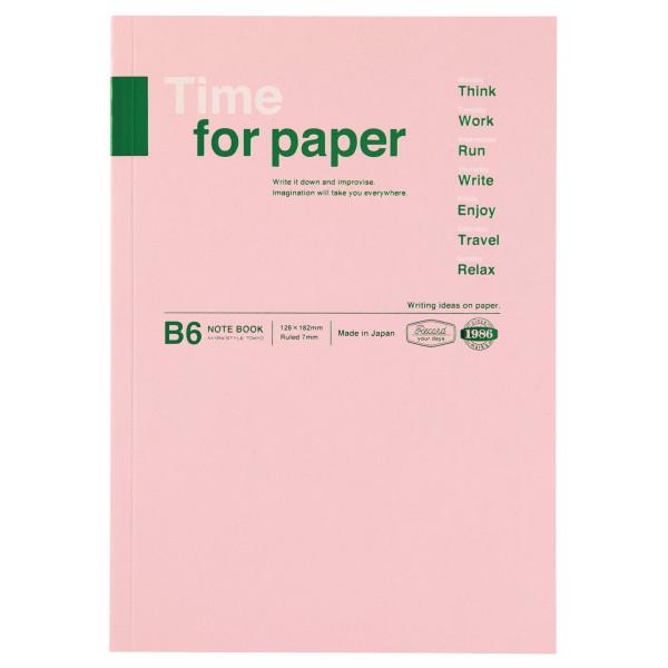 B6 Notizbuch Time for Paper Light Pink von MARK'S TOKYO EDGE