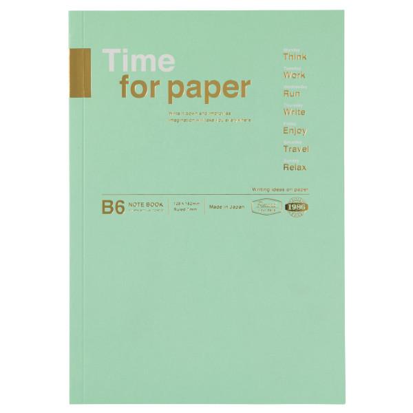 B6 Notizbuch Time for Paper Mint von MARKS TOKYO EDGE