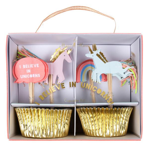 Cupcake Set Ich glaube an Einhörner