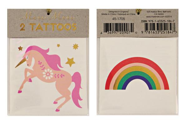 Tattoos Einhorn Regenbogen