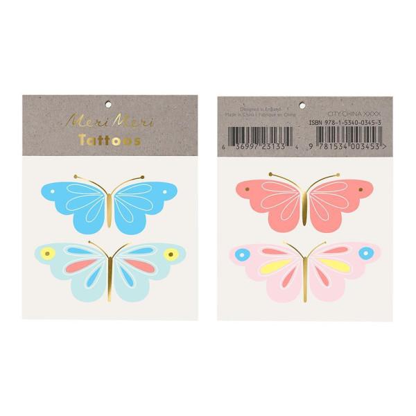 Tattoos Neon Butterfly von Meri Meri