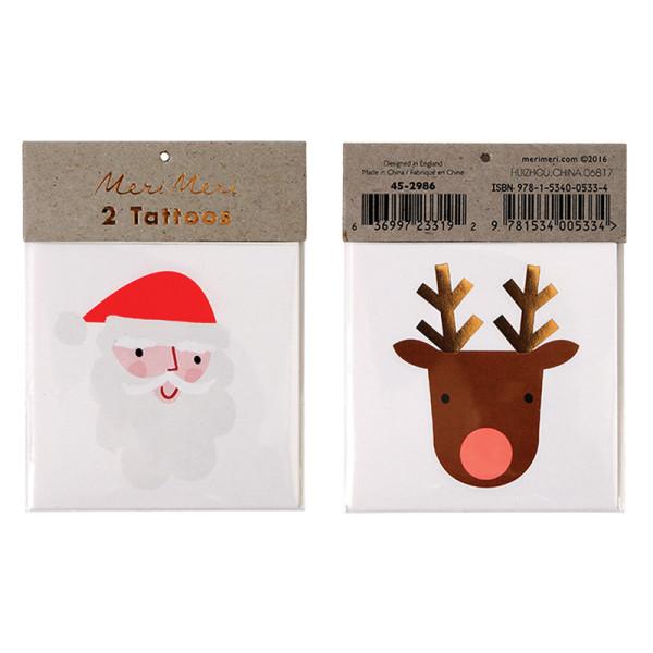 Tattoos Santa Reindeer