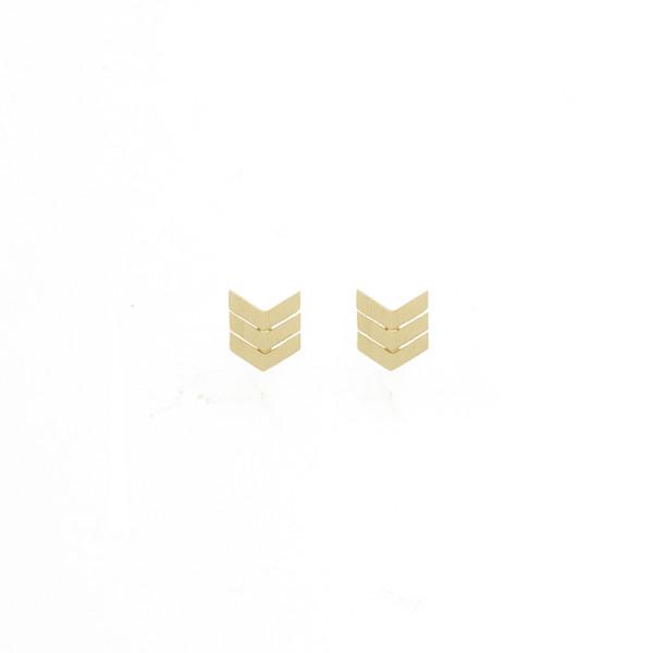 Ohrringe Pfeilspitzen, vergoldet