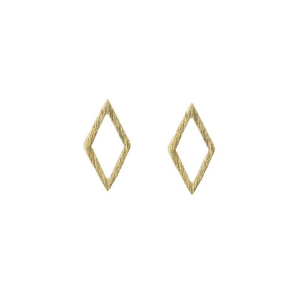 Ohrring 2D Diamond, Gold