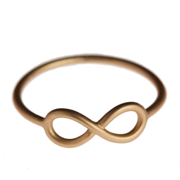 Ring Infinity, vergoldet