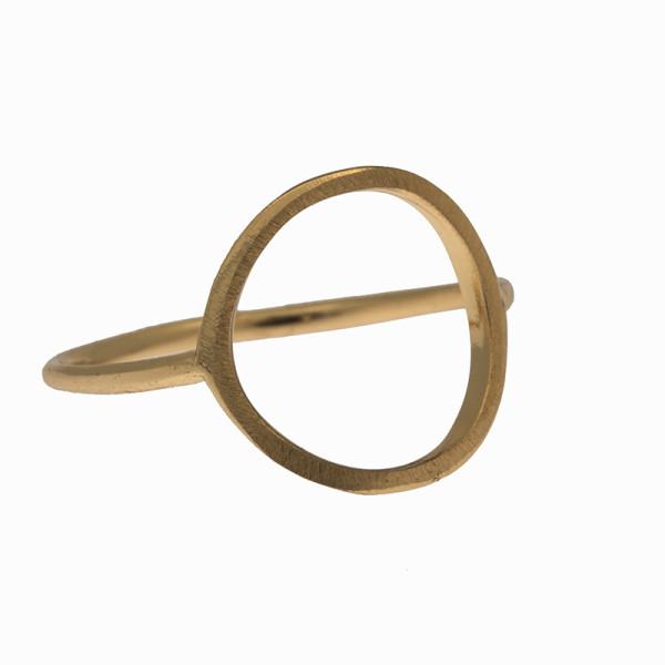 Ring grosser Kreis, Gold veredelt