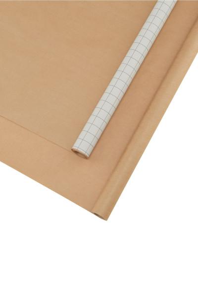 Geschenkpapier 2er Set Kraft Weiß-Braun von Monograph