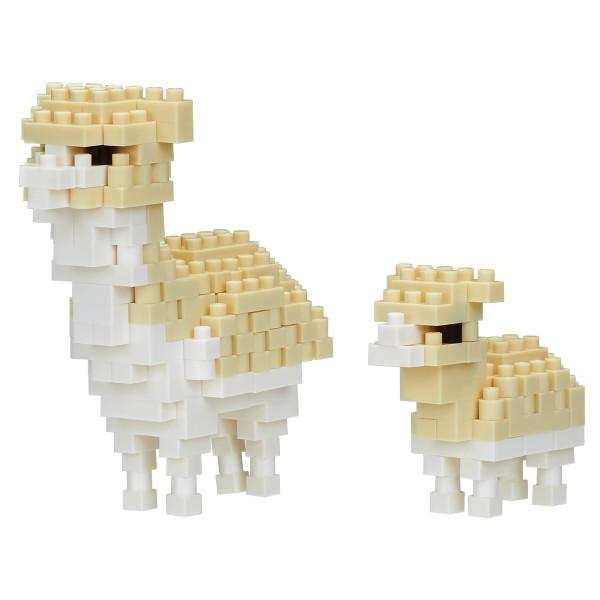 Mini Bausteine Nanoblock Alpaca und Baby von Nanoblock