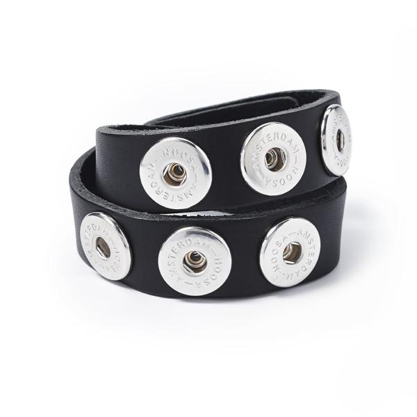 Armband doppelt Antik Schwarz XS