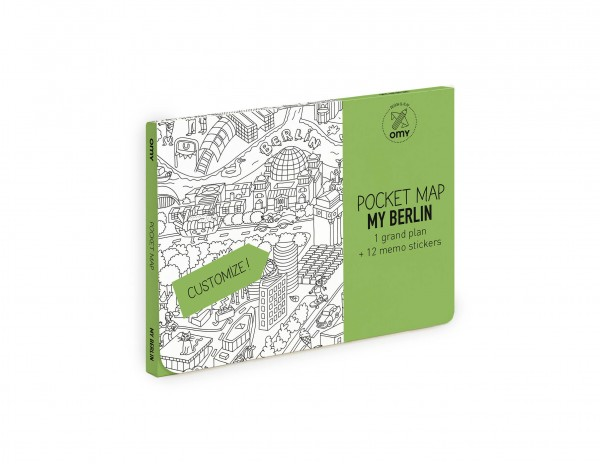 Taschen Karte OMY, Berlin von Omy