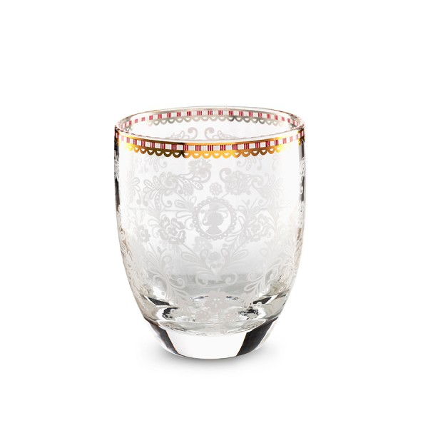 Wasserglas Floral Klar