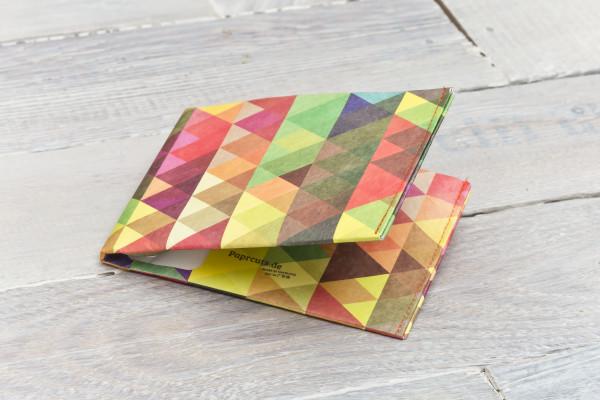 Großes Portemonnaie Bunte Dreiecke