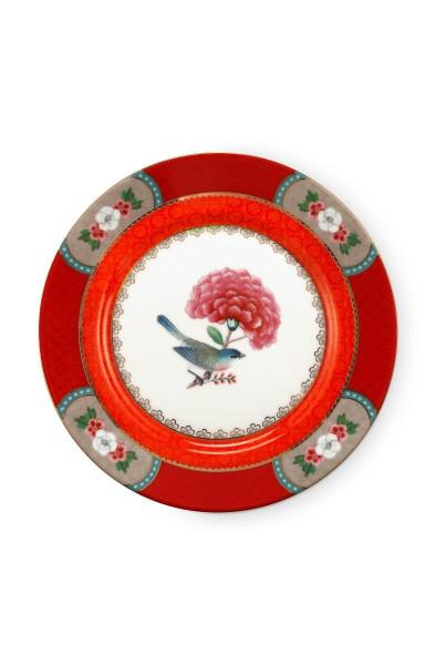Dessertteller Blushing Birds Red von PIP Studio