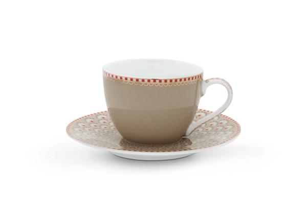 Espressotasse und Untertasse Bloomingtales Khaki