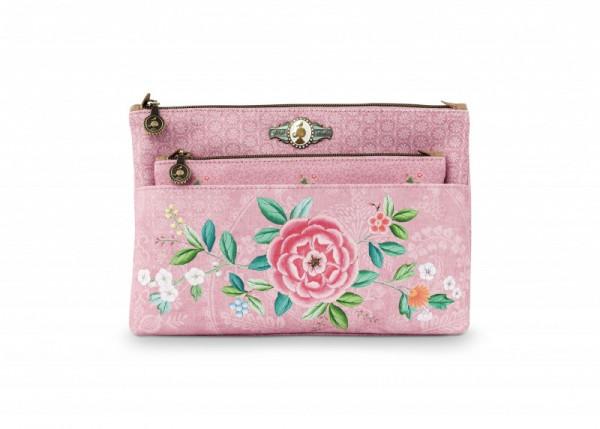 Kosmetiktasche Combi Floral Pink